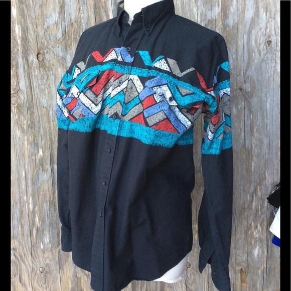 7cd15da9 Vintage 90s Western Shirt Southwestern Rodeo Roper.  M_5ac9017ab7f72b0cc793b9ec